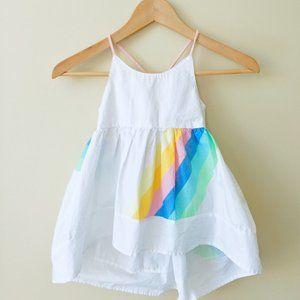 Rainbow Stripe High-Low Sun Dress